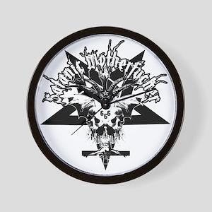Satanic-Motherfucker-2-white-girlie Wall Clock