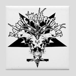 Satanic-Motherfucker-2-white-girlie Tile Coaster