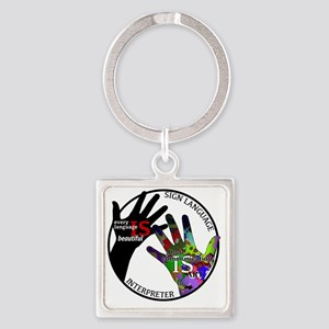 Communication is ART Square Keychain