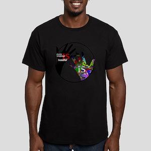 Communication is ART Men's Fitted T-Shirt (dark)