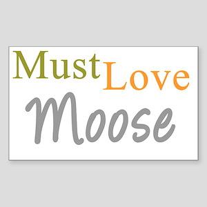 mustlovemoose_black Sticker (Rectangle)