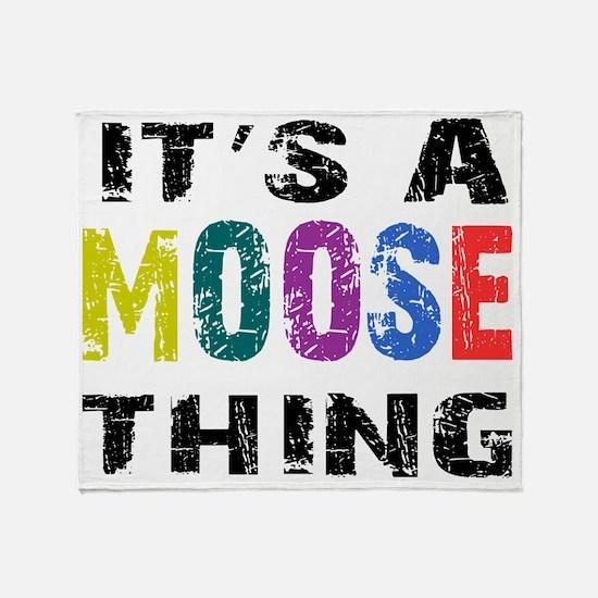 moosething Throw Blanket