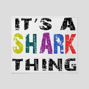 sharkthing Throw Blanket