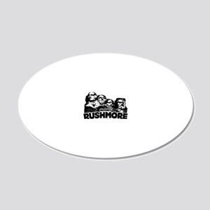 Mount Rushmore 20x12 Oval Wall Decal