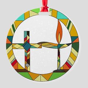 Chalice Cross Round Ornament