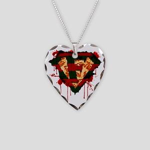 Super Freddy Kruger Logo Necklace Heart Charm