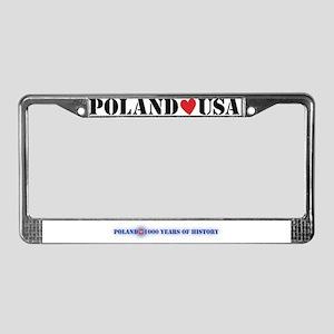 Poland USA License Plate Frame