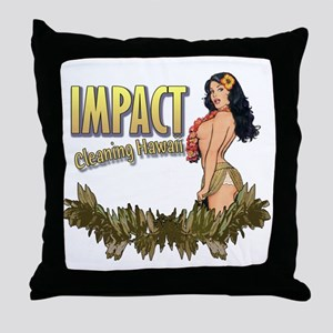 Impact Cleaning Hawaii Hula Girl Throw Pillow