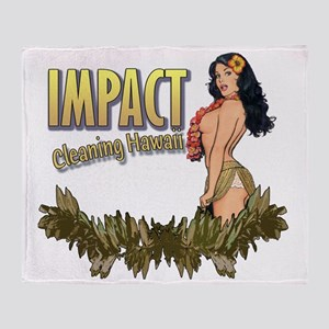 Impact Cleaning Hawaii Hula Girl Throw Blanket