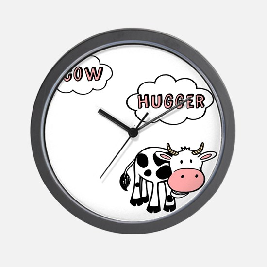 Cow Hugger Wall Clock