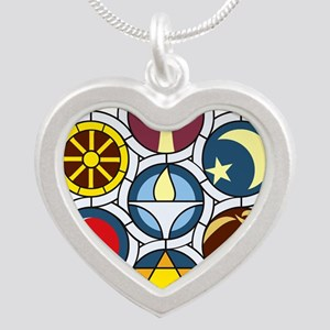 The Unitarian Universalist C Silver Heart Necklace