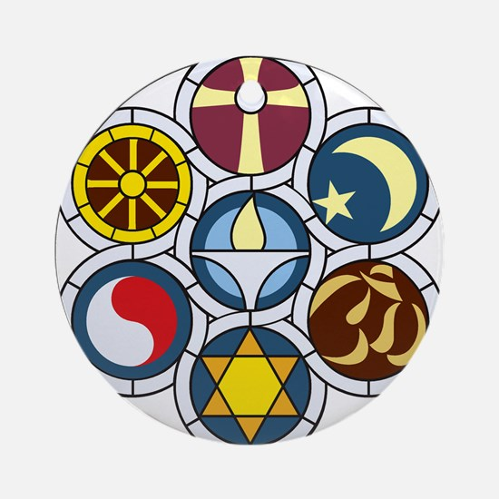 The Unitarian Universalist Church R Round Ornament