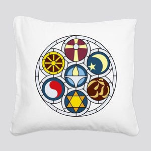The Unitarian Universalist Ch Square Canvas Pillow