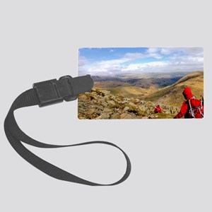Looking down across the Langdale Large Luggage Tag