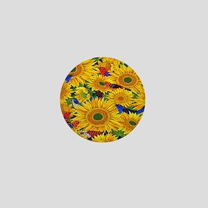 Sunflower Mini Button