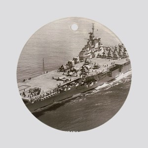 tarawa cv framed panel print Round Ornament