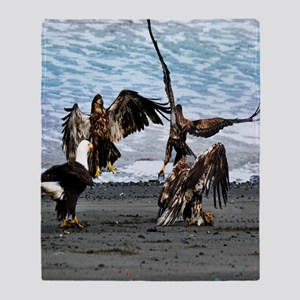 Bald Eagles Greeting or Conflict? Throw Blanket