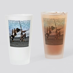 Bald Eagles Greeting or Conflict? Drinking Glass