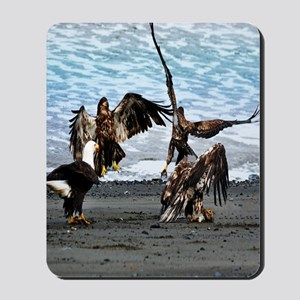 Bald Eagles Greeting or Conflict? Mousepad