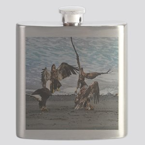 Bald Eagles Greeting or Conflict? Flask