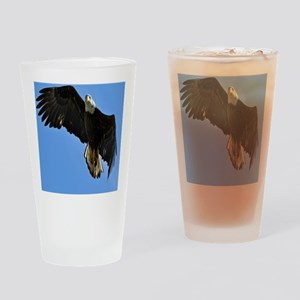Majestic Bald Eagle Drinking Glass