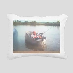 Hillybilly bass boat 2 Rectangular Canvas Pillow