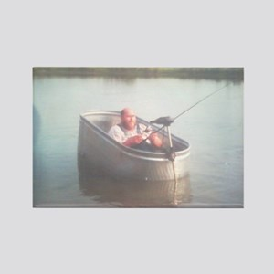 Hillybilly bass boat 2 Rectangle Magnet