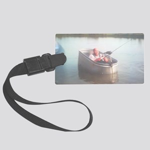 Hillybilly bass boat 2 Large Luggage Tag