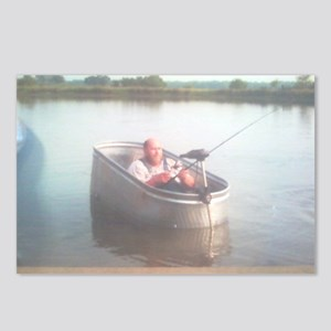 Hillybilly bass boat 2 Postcards (Package of 8)