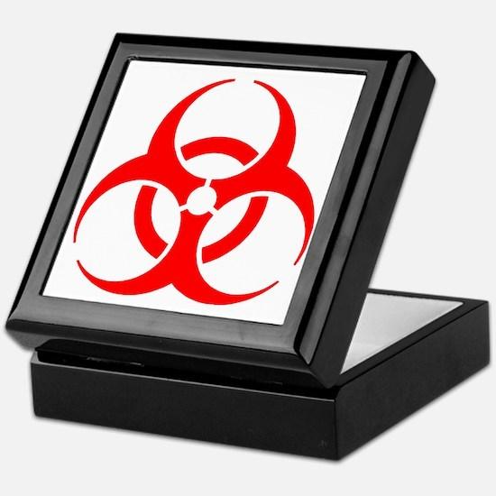 Red Biohazard Keepsake Box