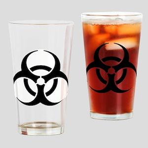Black Biohazard Drinking Glass