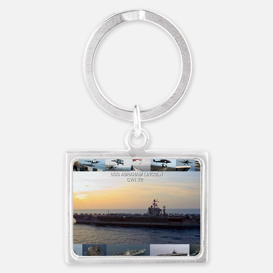 USS Abraham Lincoln Landscape Keychain