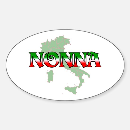 Nonna Oval Decal