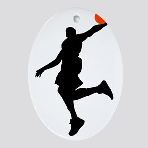 Slam Dunk Oval Ornament