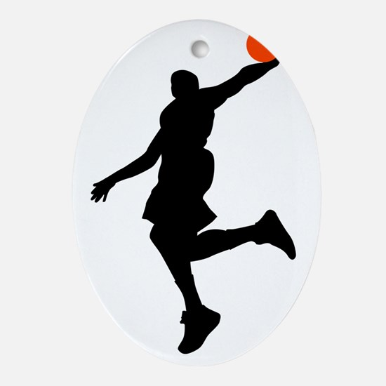 Slam Dunk Oval Ornament