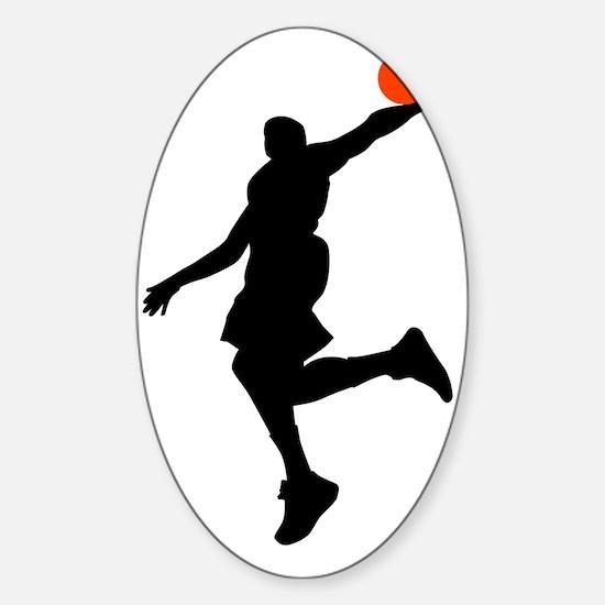 Slam Dunk Sticker (Oval)
