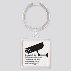 Watching You Square Keychain