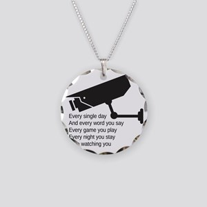 Watching You Necklace Circle Charm