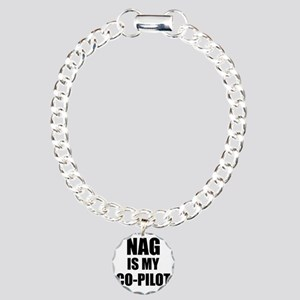 Nag is My Copilot Charm Bracelet, One Charm