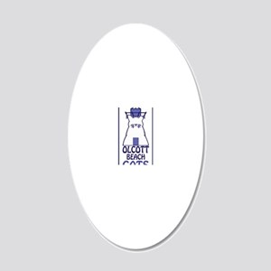 Olcott Cats Vertical 20x12 Oval Wall Decal