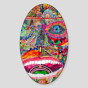A human face Sticker (Oval)