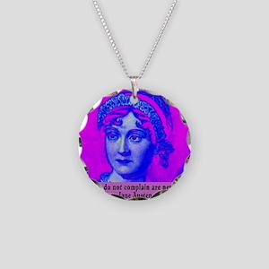 Jane Austen Necklace Circle Charm