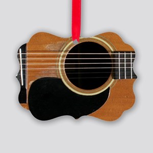 Old, Acoustic Guitar Picture Ornament