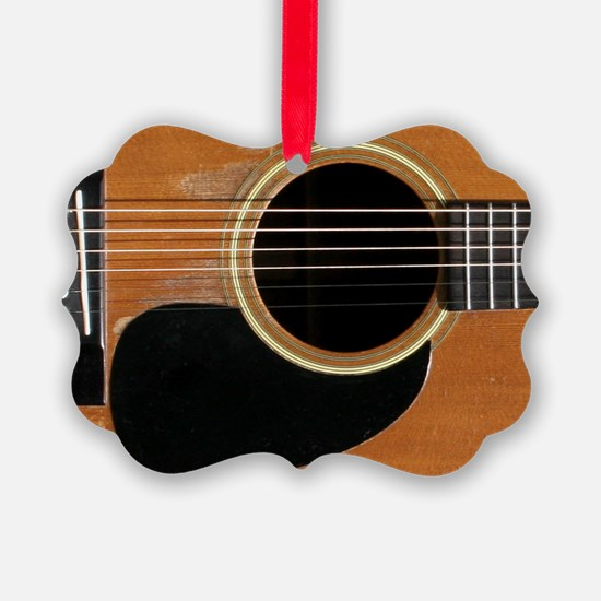 Old, Acoustic Guitar Ornament