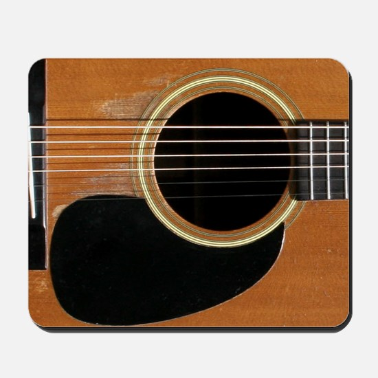 Old, Acoustic Guitar Mousepad
