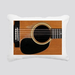 Old, Acoustic Guitar Rectangular Canvas Pillow