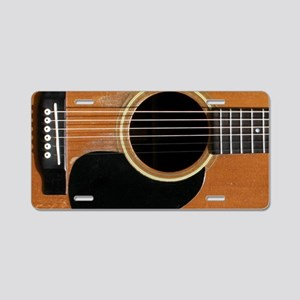 Old, Acoustic Guitar Aluminum License Plate