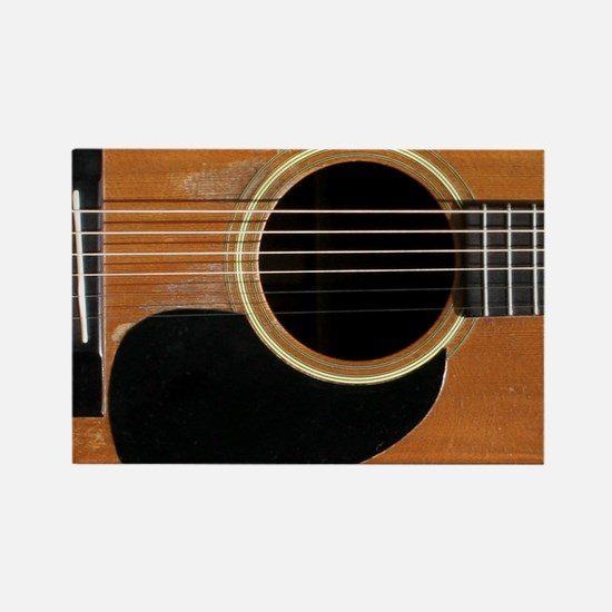 Old, Acoustic Guitar Rectangle Magnet