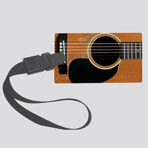Old, Acoustic Guitar Large Luggage Tag