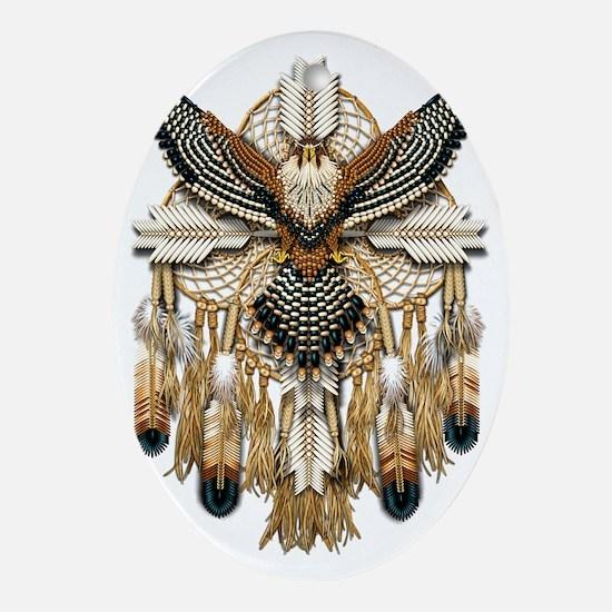 Aplomado Falcon Dreamcatcher Oval Ornament